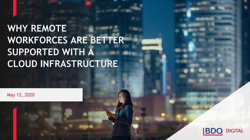 Why Remote Workforces are Better Supported with a Cloud Infrastructure