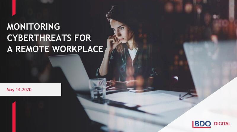 Monitoring Cyberthreats for a Remote Workplace