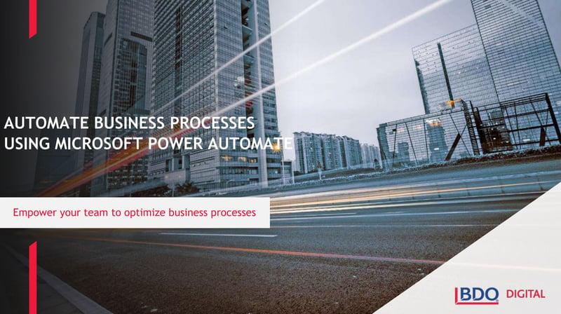 Automate Business Processes using Microsoft Power Automate