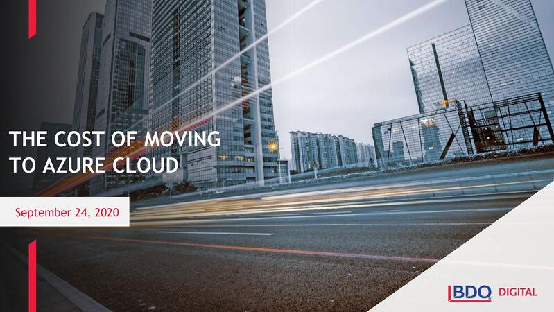 The Cost of Moving to Azure Cloud
