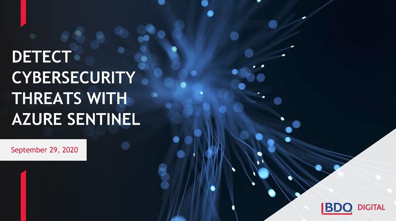 Detect Cybersecurity Threats with Azure Sentinel